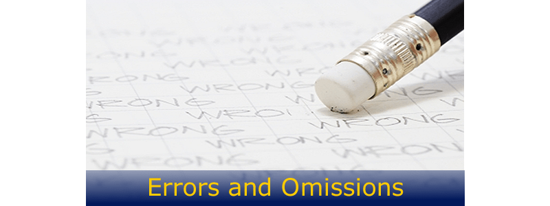 liability for omissions Insurance agents errors and omissions professional liability - june 2010 lawyers' professional liability - september 2014.